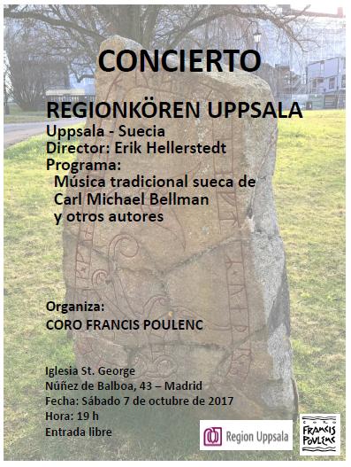 7 de octubre. Concierto Coro Uppsala